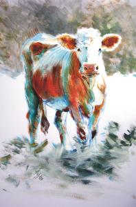 Cow Painting - The Courage of Youth
