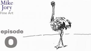 Five minute ostrich drawing - Animal Alphabet Challenge - Episode O