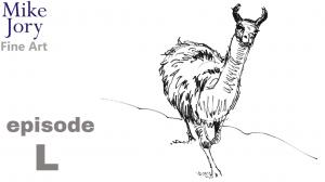 Five minute llama drawing - animal alphabet challenge - episode L