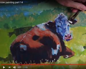 Cow Painting - Video part 14