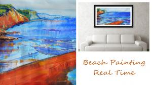 The Sunday Art Show - English beach scene painting tutorial - real time video