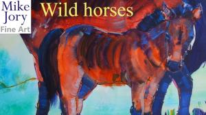 The Sunday Art Show - Wild horse and foal painting demo