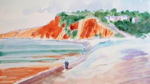 The Sunday Art Show - En Plein Air Watercolour Paintings of Budleigh Salterton in Devon