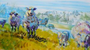 The Sunday Art Show - Sheep and Lamb Painting