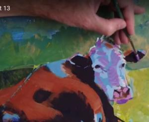 Cow Painting - Video part 13
