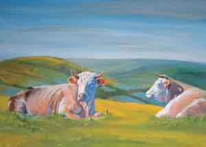 Cow Painting - Guardians of the Valley