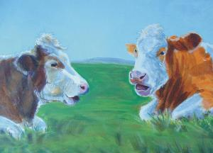 Cows Painting - Chit Chat