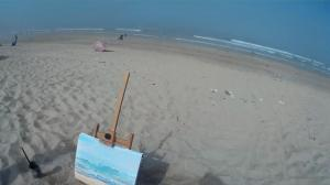 The Sunday Art Show - En plein air seascape - Sea Fret at Fistral