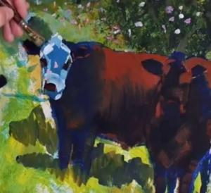 Cow Painting - Video part 9