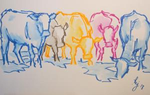 The Sunday Art Show - How to paint cows in watercolour