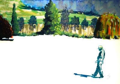 Chartwell Gardens Surreal Painting - Sky Arts Landscape Artist of the Year 2021