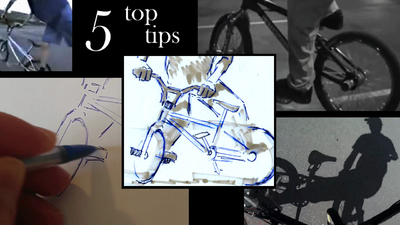 The Sunday Art Show - How to do a black and white impressionist drawing of a bicycle