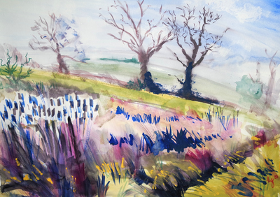 The Sunday Art Show - How to paint a landscape using a water brush