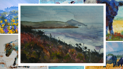 The Sunday Art Show - Rame Head in Cornwall Painting - How to paint a stormy coastal scene