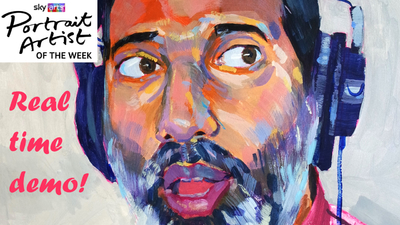 The Sunday Art Show - Sky Arts Portrait Artist of the Week - Nihal Arthanayake